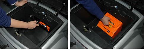 電動シニアカー【シルド】バッテリー取り外し